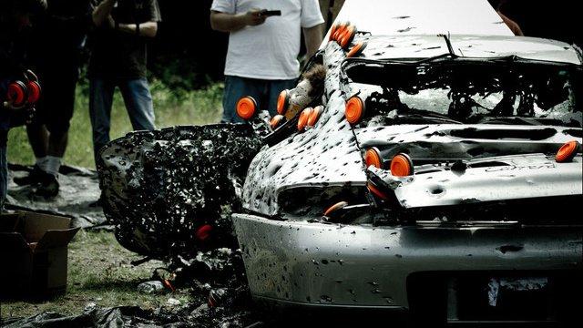 Porsche 911 Crushed