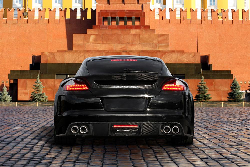 Porsche Panamera Stingray GTR se zlátým a krokodýlým interiérem 5