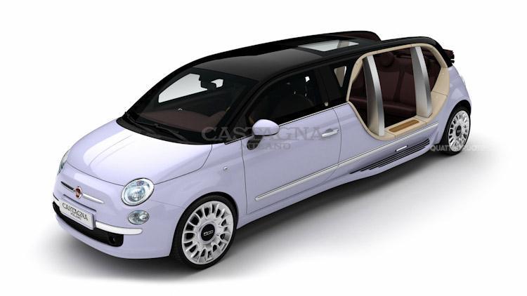 Italská minilimuzína Castagna Fiat 500 Limo 3