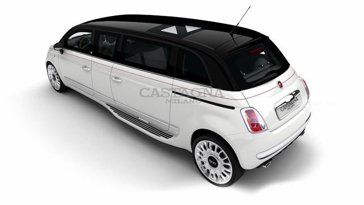 Italská minilimuzína Castagna Fiat 500 Limo 7