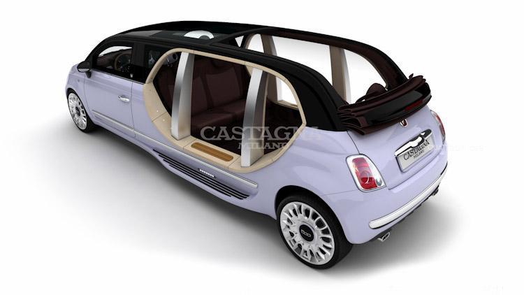 Italská minilimuzína Castagna Fiat 500 Limo 9
