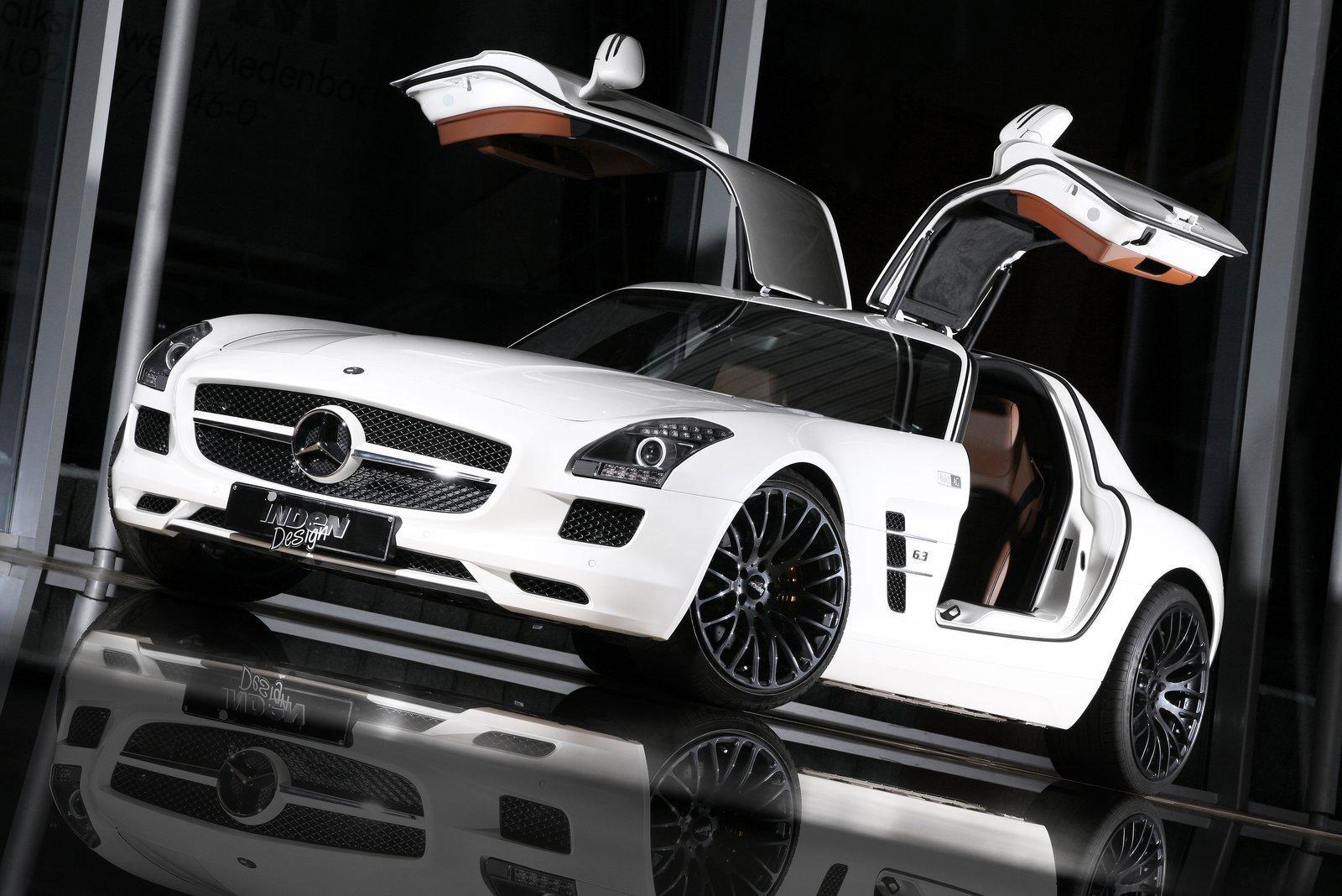 Mercedes-Benz SLS AMG dostal od Inden Design pár koní navíc 2
