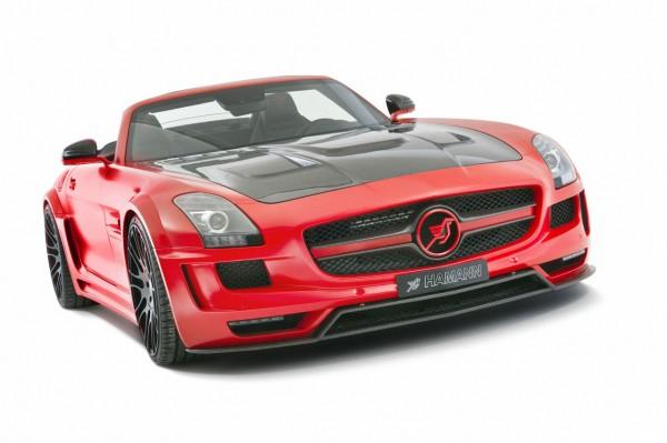 Rudý Mercedes SLS AMG od Hamannu 1