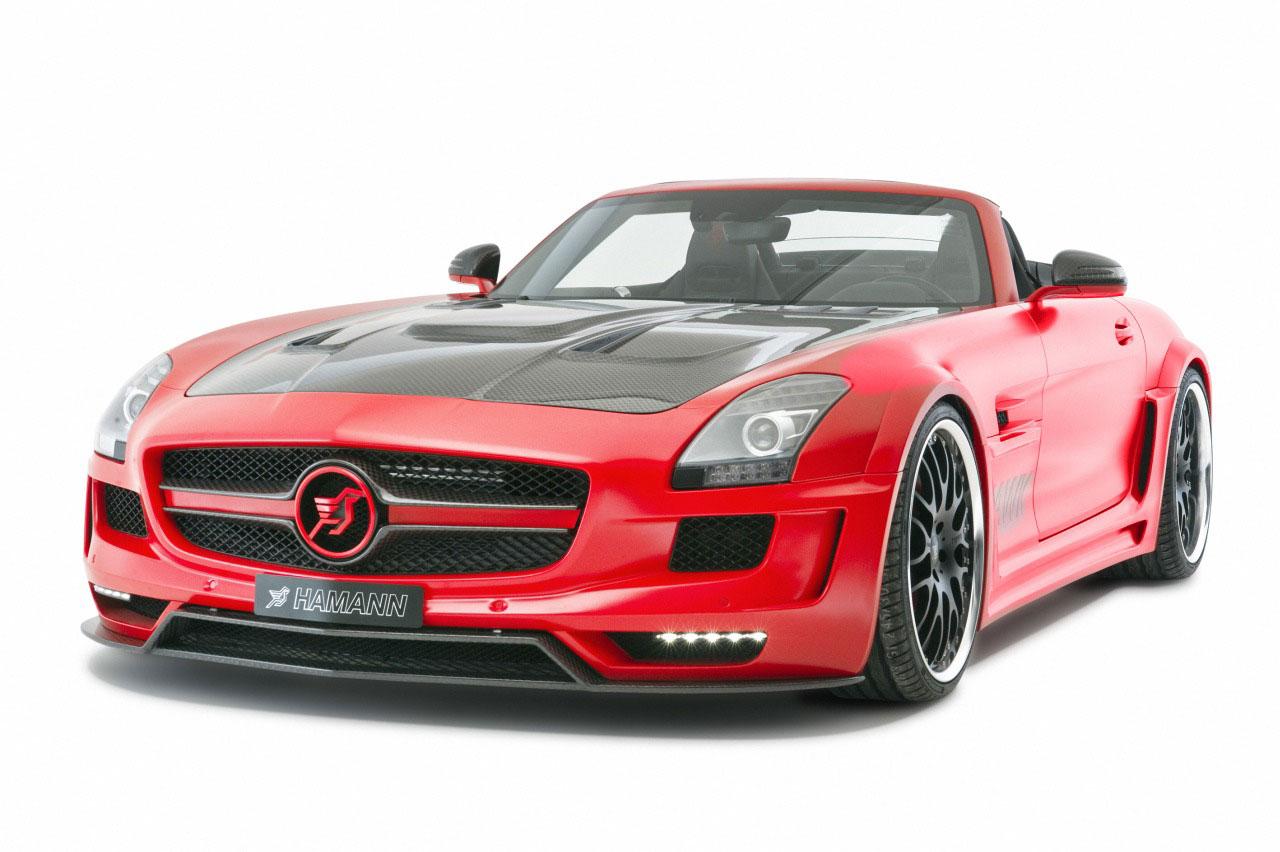 Rudý Mercedes SLS AMG od Hamannu 3