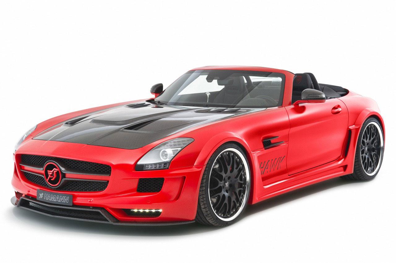 Rudý Mercedes SLS AMG od Hamannu 4
