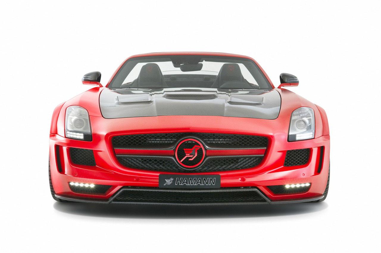 Rudý Mercedes SLS AMG od Hamannu 5
