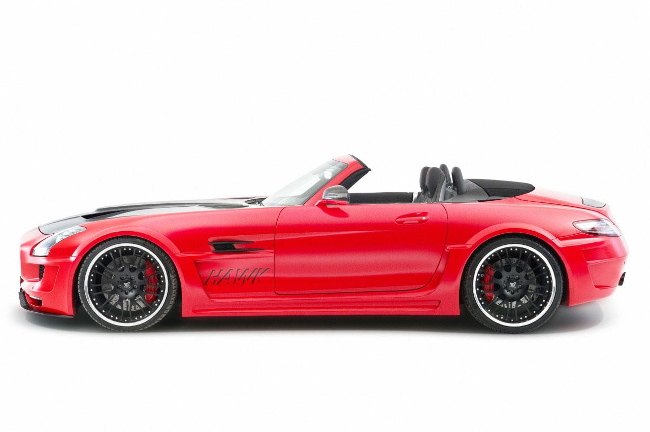 Rudý Mercedes SLS AMG od Hamannu 6