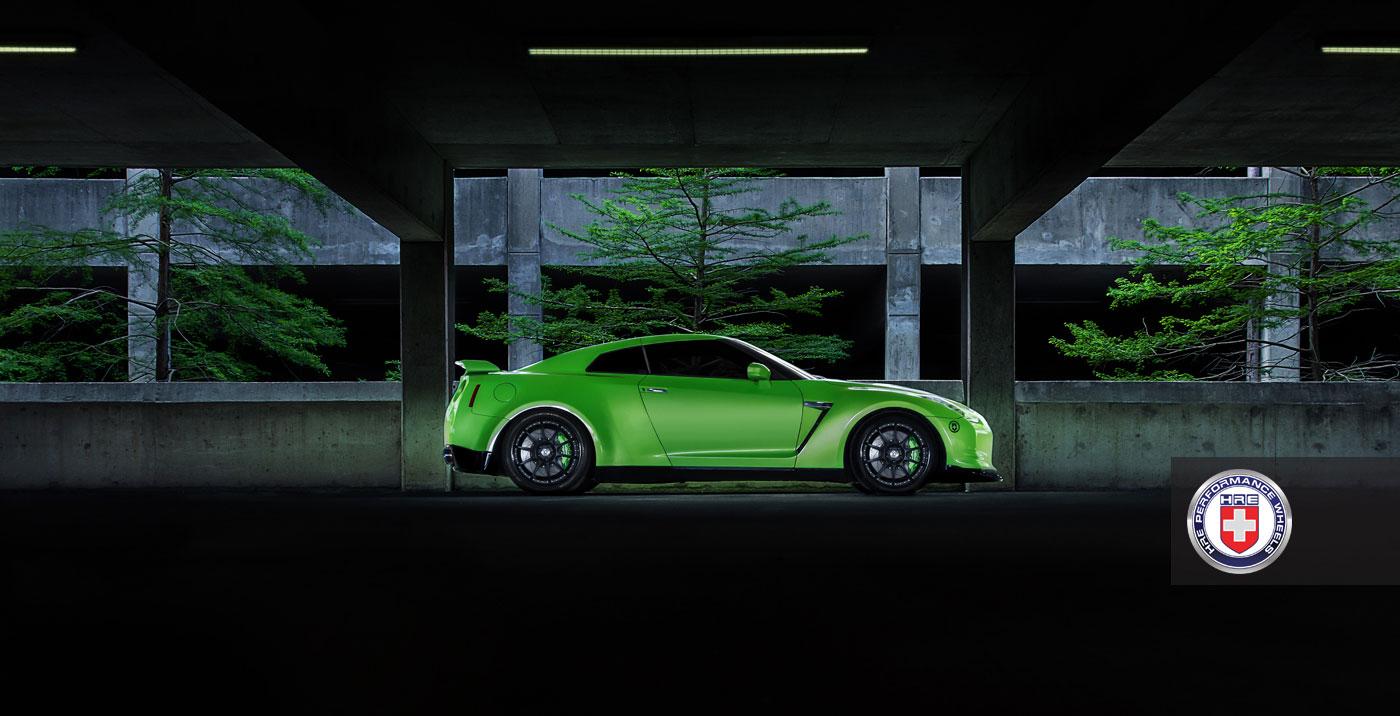 Nissan GT-R jako Green Hulk 7