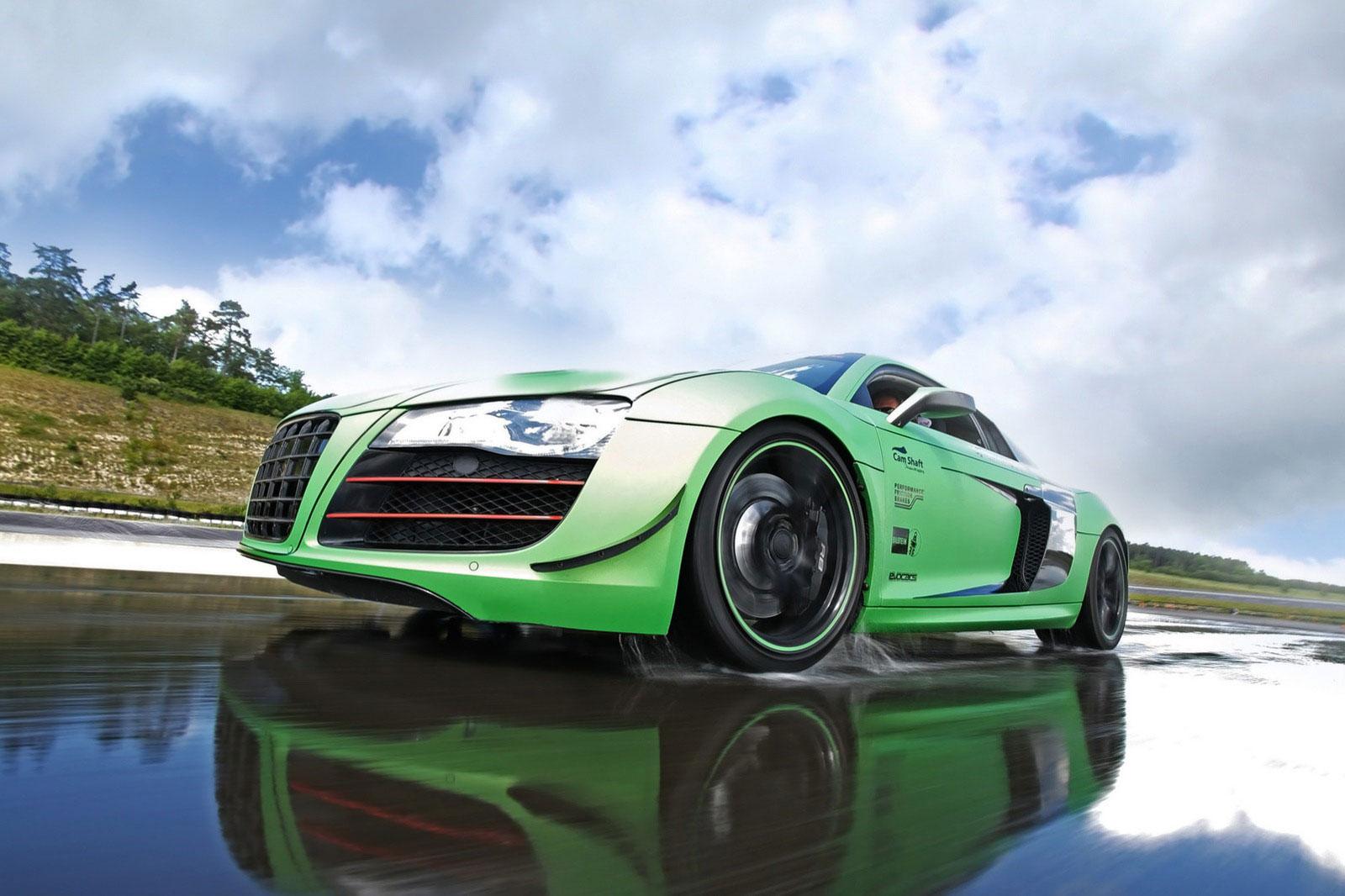 Zelené Audi R8 od německých tunerů Racing One 3