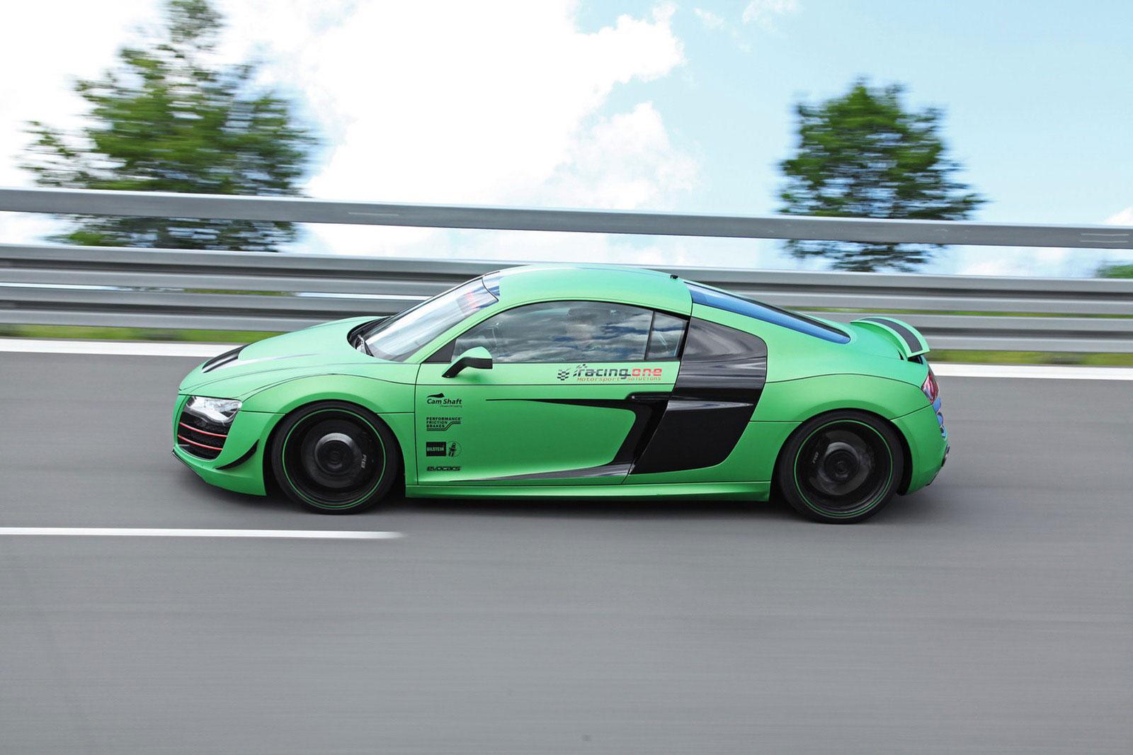 Zelené Audi R8 od německých tunerů Racing One 5