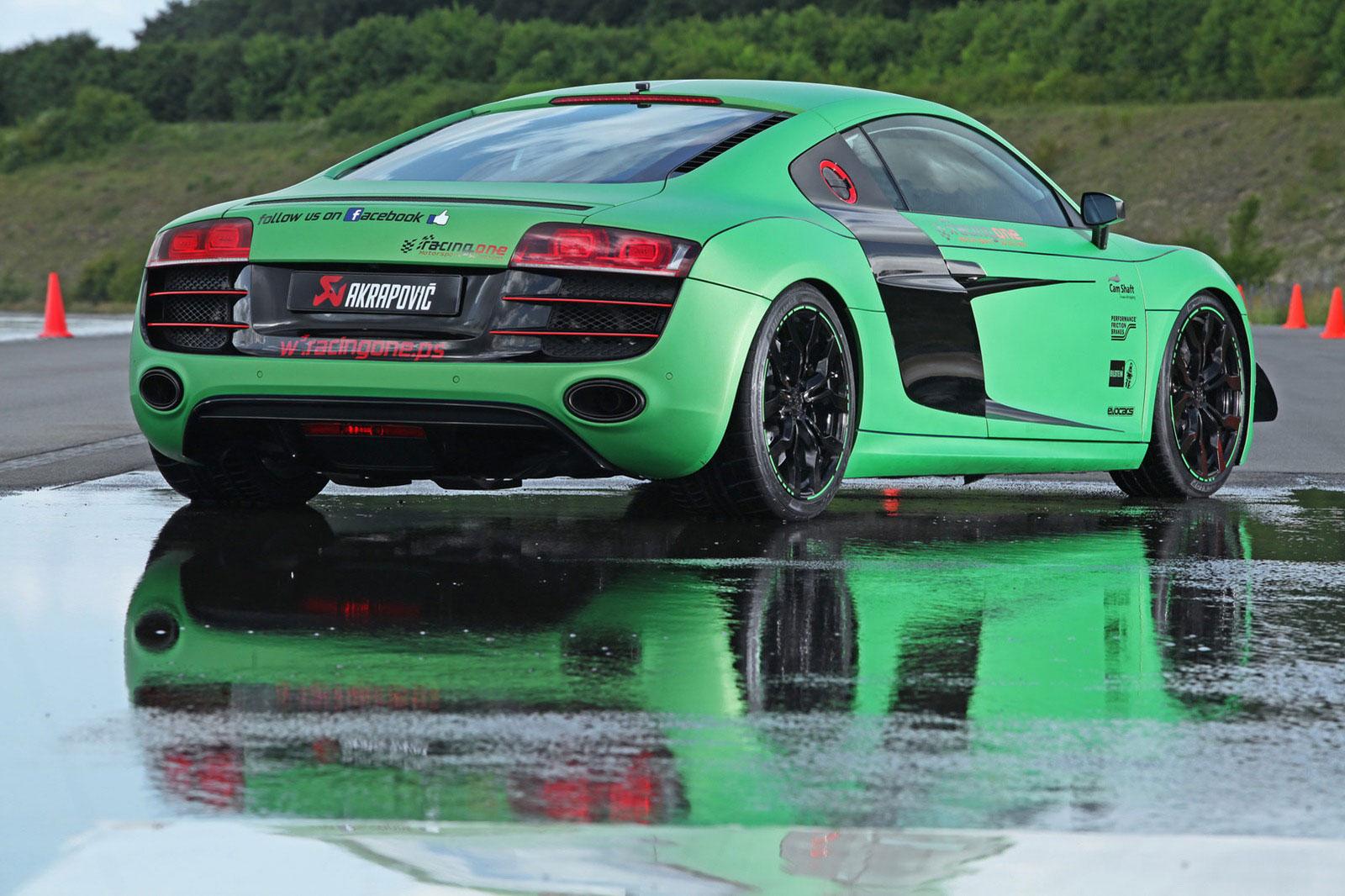 Zelené Audi R8 od německých tunerů Racing One 8