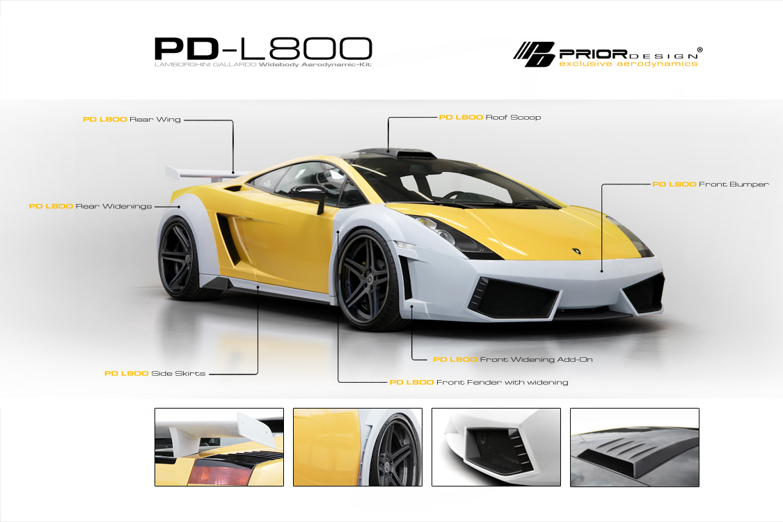 Lamborghini Gallardo dostalo nový vzhled od Prior Design 2