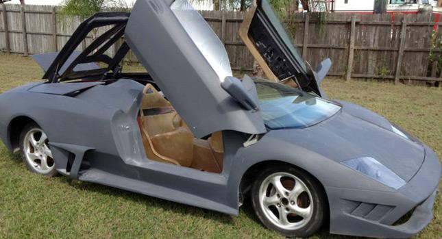 Porsche Boxster předěláno na repliku Lamborghini Murcielaga 1