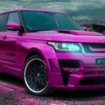 Růžový Range Rover od Hamann