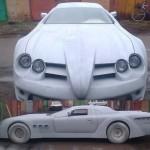 Ukrajinská replika sci-fi Mercedesu SLR