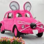 VW Brouk jako růžová myška