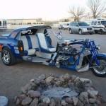 Ford Mustang předělán na tříkolku