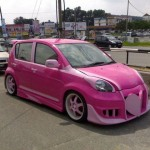 Perodua MyVi jako barbiemobil