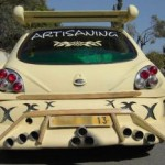 Ford Fiesta s devíti výfuky (tuzing)