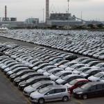 Sklady aut nachystaných na export
