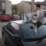 Podomácku vyrobená klimatizace v autě