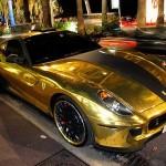 Zlaté Ferrari 599 Hamann