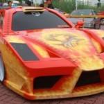 Nepodařená replika Ferrari Enzo z Malajsie