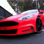 Mansory Aston Martin DBS v červené fólii