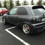 Upravený Opel Corsa z Irska