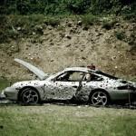 Rozstřílené Porsche 911