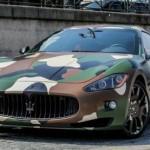 Maserati GranTurismo S v army stylu