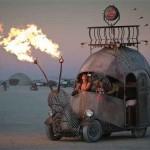Burning Man a jeho fantastické vozy