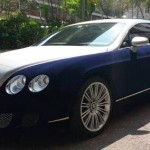Sametem potažené Bentley Continental GT
