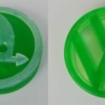 Mýdla ve tvaru znaků Škoda, Volkswagen a Peugeot