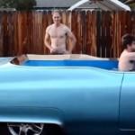 Vířivka v pojízdném Cadillacu Coupe DeVille (video)