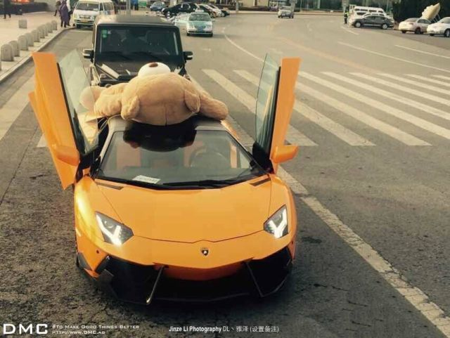 lamborghini-aventador-wearing-a-teddy-bear-on-its-roof-stops-traffic-in-china_10
