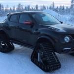 Nissan Juke Nismo RS se sněžnými pásy