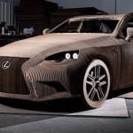 Lexus IS z kartonu v měřítku 1:1